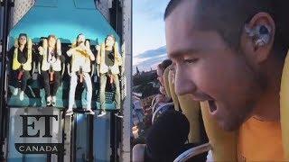 Bastille's Dan Smith Performs On Roller Coaster