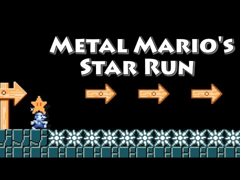Super Mario Maker - Metal Mario's Star Run