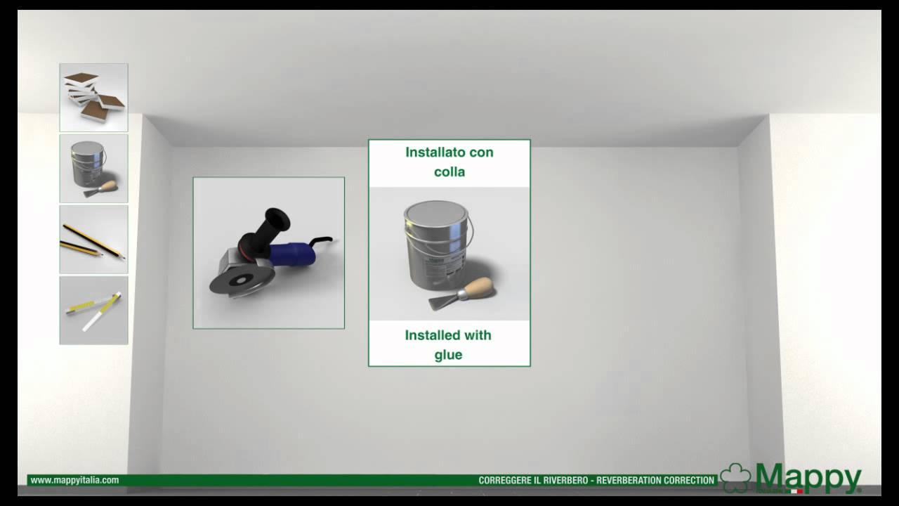 Mappy italia: correzione riverbero soffitto colla riverberation