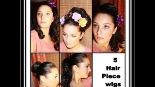 5 Hair Piece Wigs: How to 7 different styles Thumbnail