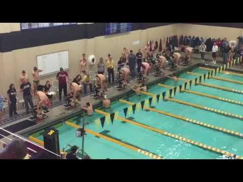 Thomas Reising 50 Free. HCC Conference Championships