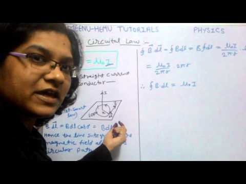 Ampere's circuital law   12th physics   derivation+Explanation