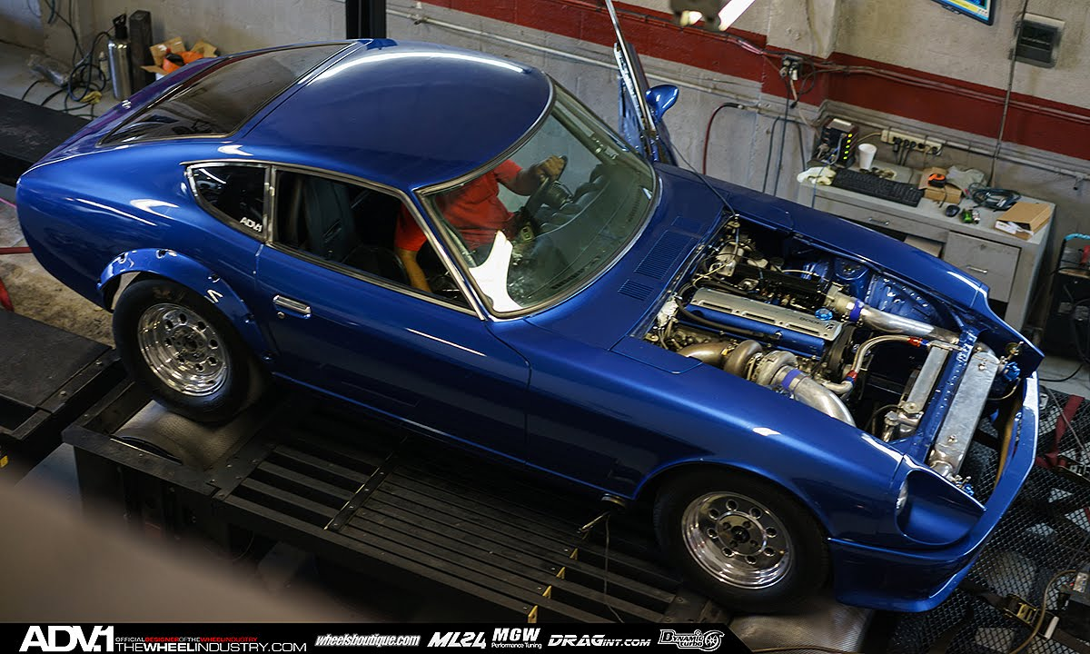 Adv 1 825hp Single Turbo 2jz Datsun 280z Dyno Pull
