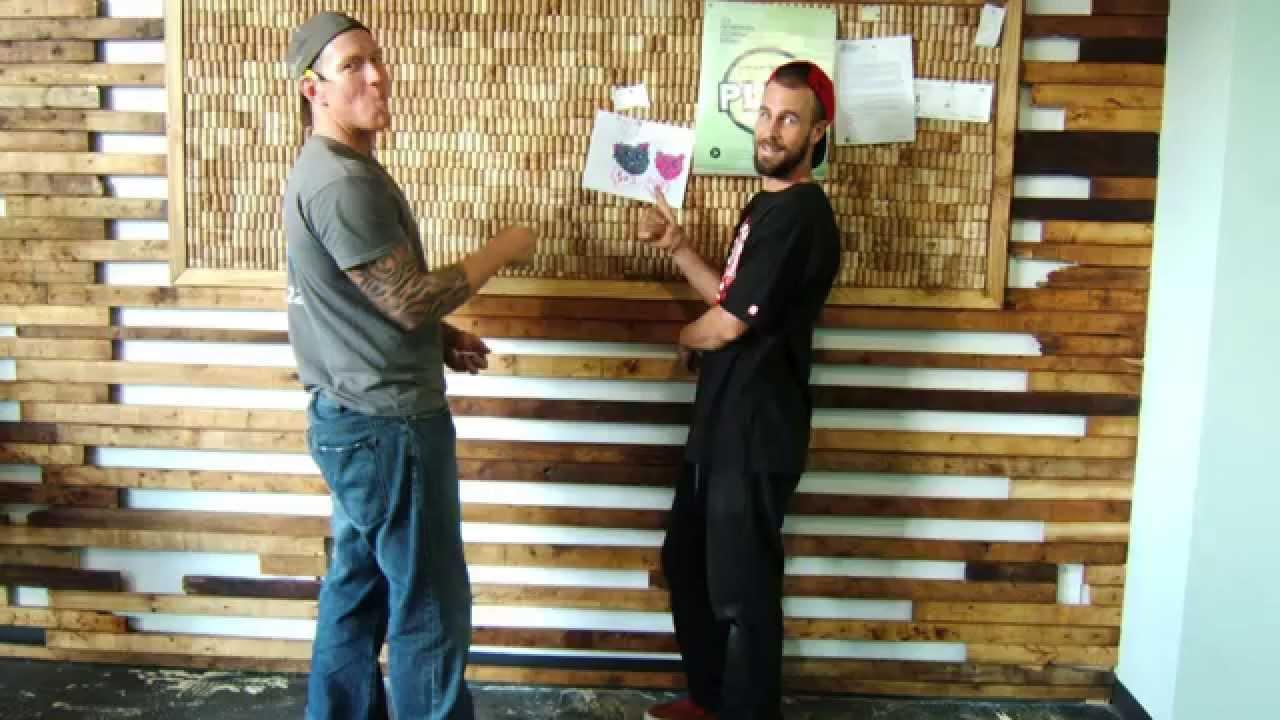 Mur De Bois Recycl Chez Espace Koala Youtube
