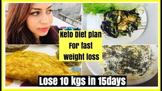 Indian Keto Diet Plan for weight loss | Lose 10 kgs in 15 Days | Azra Khan Fitness