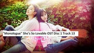 """Monologue"" She's So Lovable OST Disc 1 Track 13"