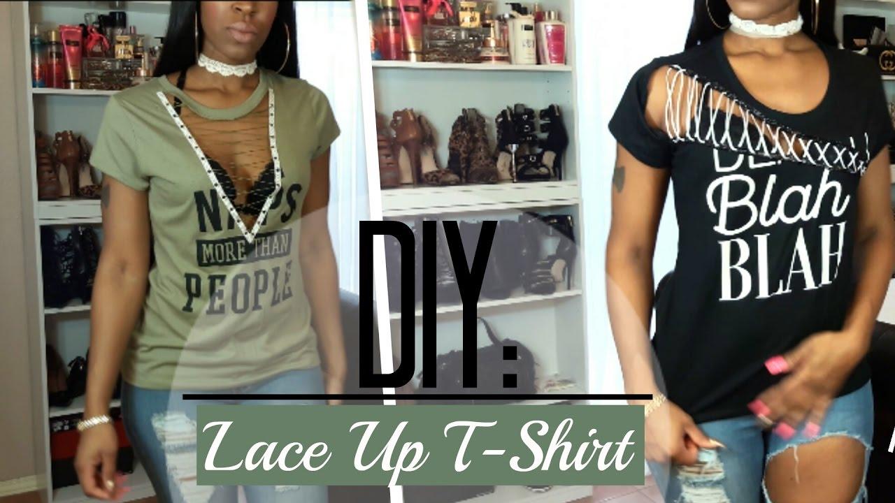 Diy Lace Up T Shirt 5