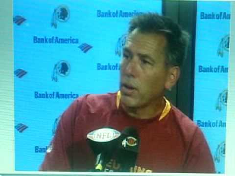 Jim Zorn Angry At A Reporter During Redskins Press Conference