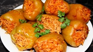 Фаршированные перцы рисом и мясом. Простой рецепт с подробным описанием приготовления.