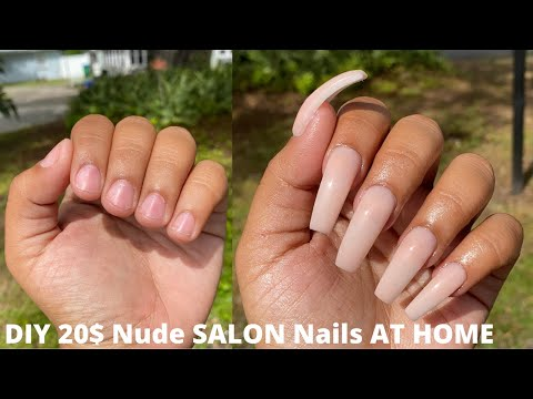 DIY 20$ Nude SALON Nails AT HOME