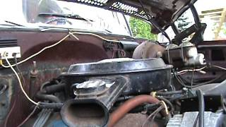 Chevy Camper Special 1977 Truck cold start FOR PARTS