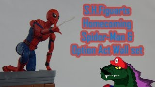 S.H.Figuarts SpiderMan Homecoming SpiderMan and the Option Act wall Set Review