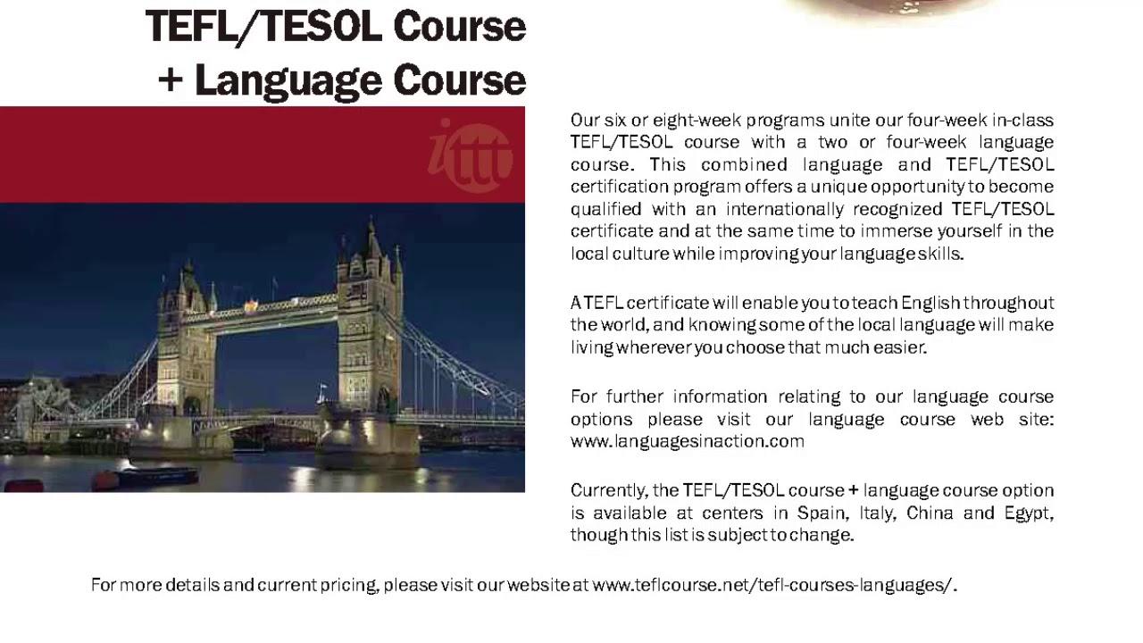 International Tefl And Tesol Training Ittt Tefltesol Course