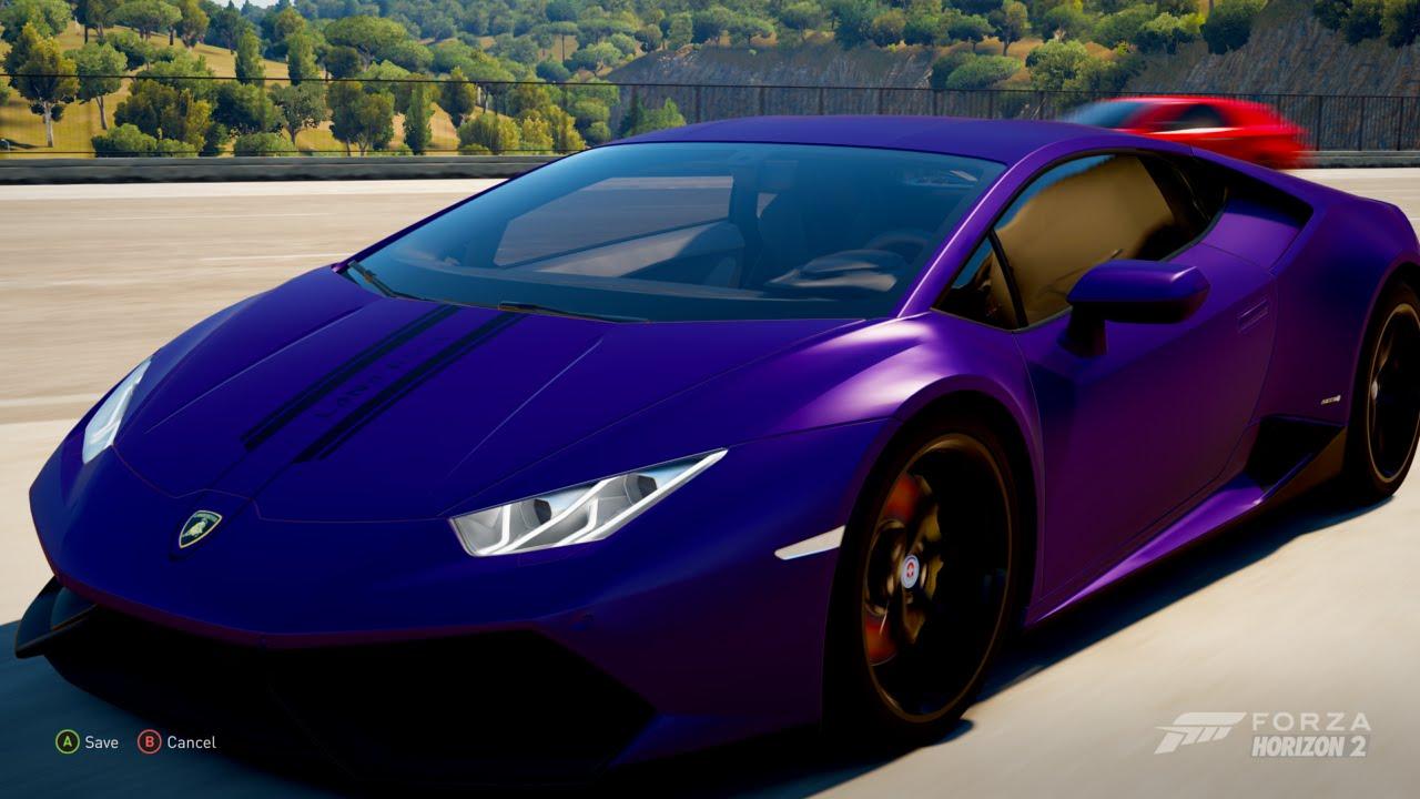 Forza Horizon 2 Making Lana Rose S Purple Lamborghini