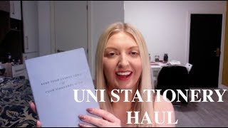 UNI/SCHOOL STATIONERY HAUL   STUDENT BLOG LIFE