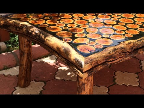 Sanat Eseri Natural Odun Sehpa Yapimi