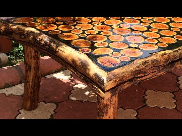 Sanat eseri natural odun sehpa yap?m?