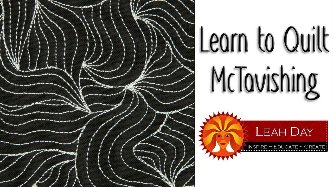 How to Machine Quilt McTavishing - YouTube