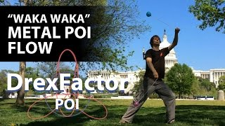 Poi Dancing And Spinning To waka Waka  Metal Cover  By Leo Moracchioli