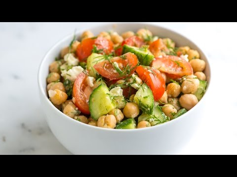 Easy Chickpea Salad Recipe with Lemon and Dill