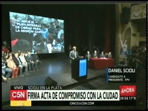 C5N  - Eleccion 2015: Conferencia de Daniel Scioli