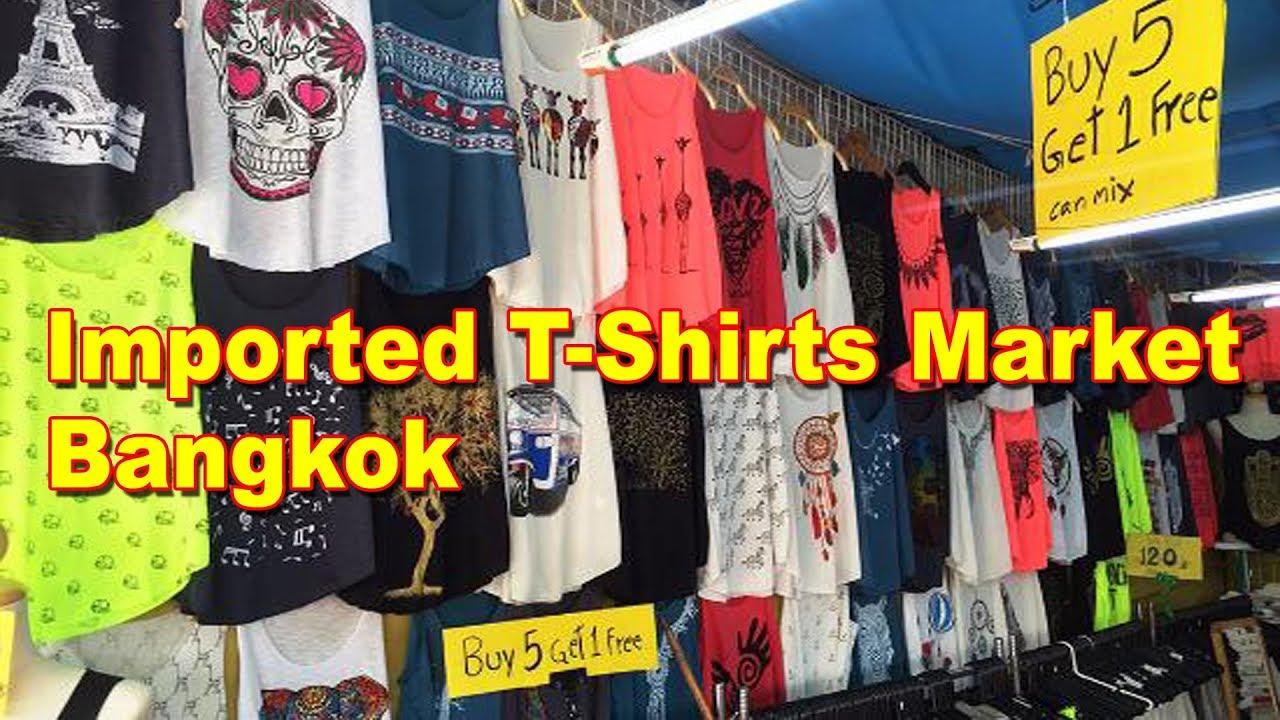 96a4c182c Imported T-Shirts Market In Bangkok | Best Market For Boys | Walking Street  Market