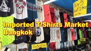 Imported T-Shirts Market In Bangkok | Best Market For Boys | Walking Street Market