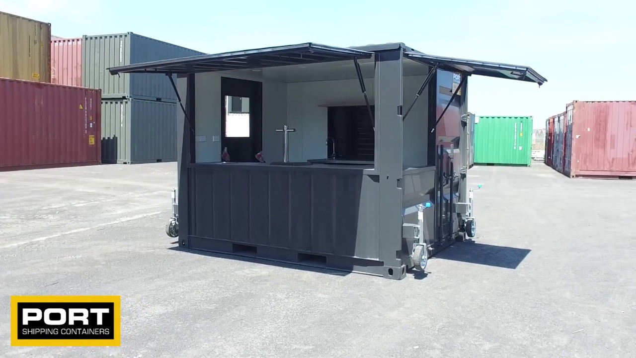 10ft Container Bar Queens Wharf Hotel Newcastle Youtube