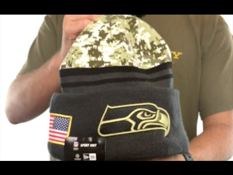 c06d6faf Seahawks '2016 SALUTE-TO-SERVICE' Knit Beanie Hat by New Era - YouTube