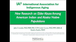 New Research on Elder Abuse Among American Indian and Alaska Native Populations