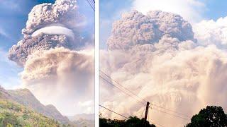 На Карибах взорвался вулкан. Столб пепла высотой 10 километров накрыл остров. Жителей эвакуируют