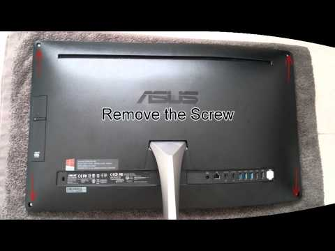 Open ASUS AIO (All In One ) ET2322 Disassemble - Upgrade HDD SSD RAM
