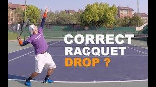 How To Improve Tennis Serve - Correct Racquet Drop (TENFITMEN - Episode 70)