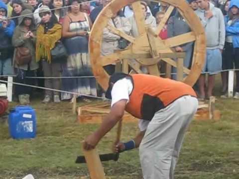 fiesta de las tradiciones en nitre isla de chiloé comuna chonchi verano 2013 tejuela de canelo