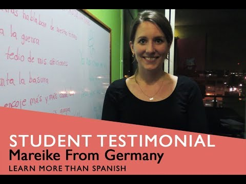 General Spanish Course Student Testimonial by Mareike from Deutsch