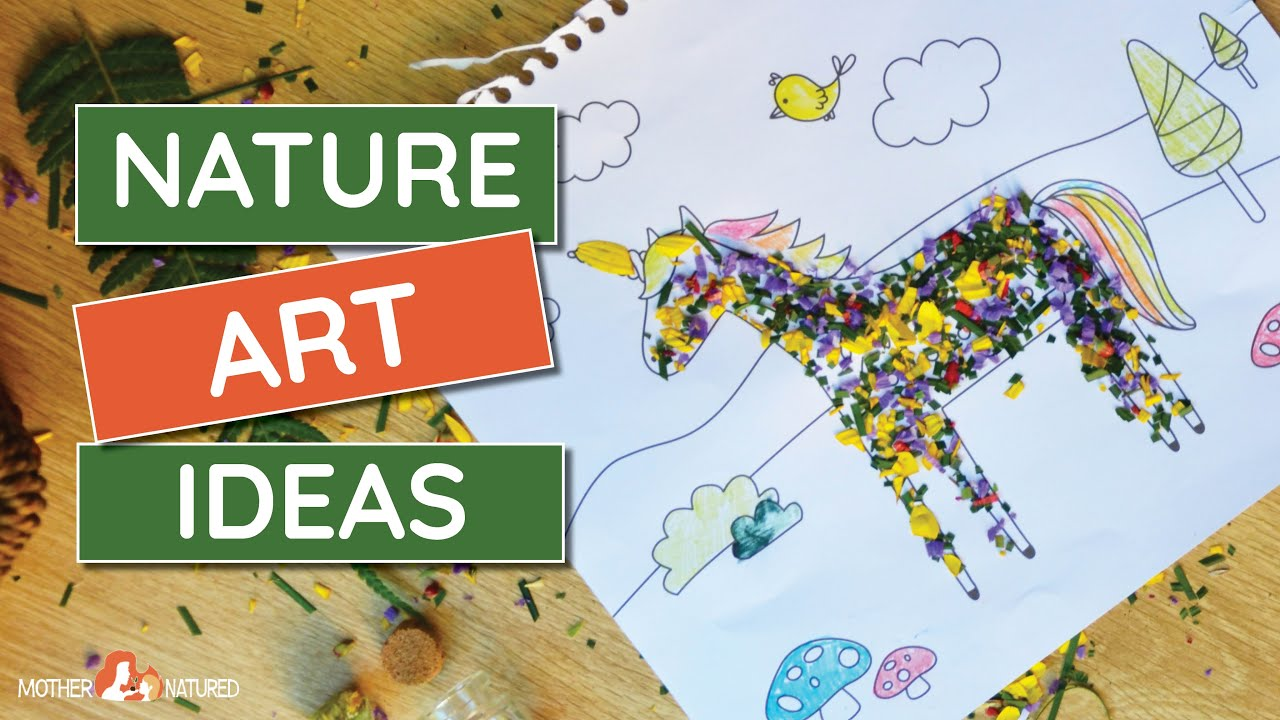 10 Creative NATURE ART IDEAS for Kids | Simple Nature Art