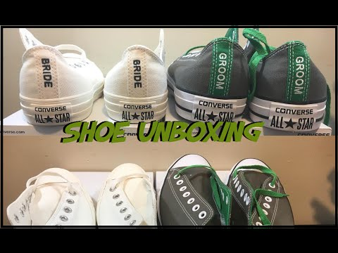 Custom Converse Shoe Unboxing! || My Wedding Shoes! - YouTube