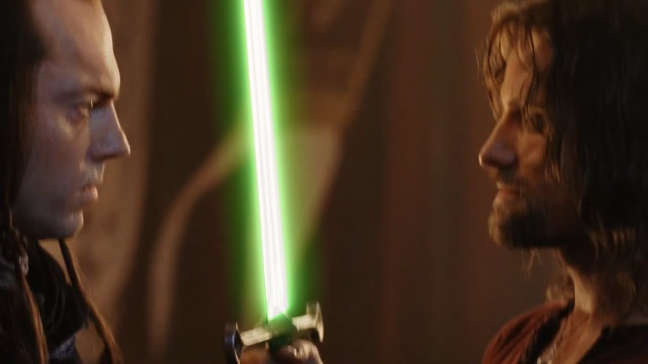 Lord Of The Rings Andúril Lightsaber Youtube