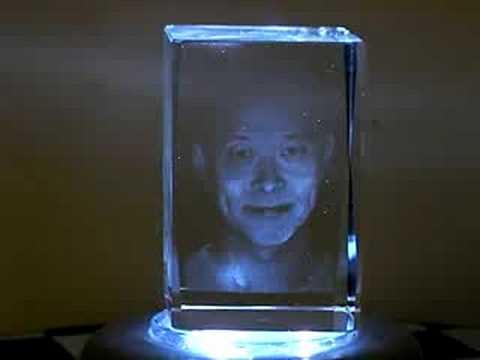 3D Laser Etched Crystal Portrait
