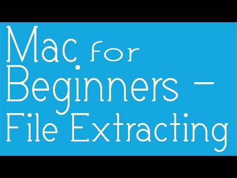 Basics of Mac  - How to Extract and Open  .rar/RAR files/.zip/.tar/.7z