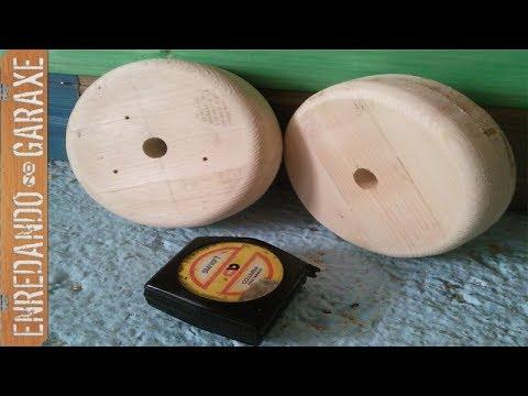Como hacer ruedas de madera pequeñas. Deck chair wooden wheels