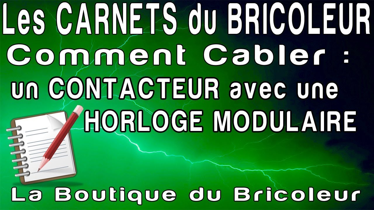 les carnets du bricoleur installer un contacteur avec une horloge pour simuler le tarif jour. Black Bedroom Furniture Sets. Home Design Ideas