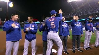 WS2015 Gm1: NL champion Mets introduced pregame