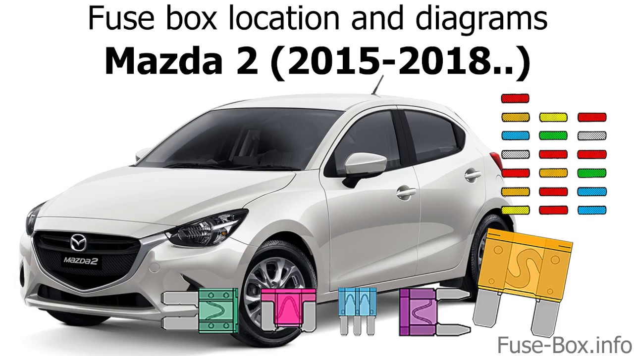 Fuse box location and diagrams: Mazda 2 (2015-2018..) - YouTube