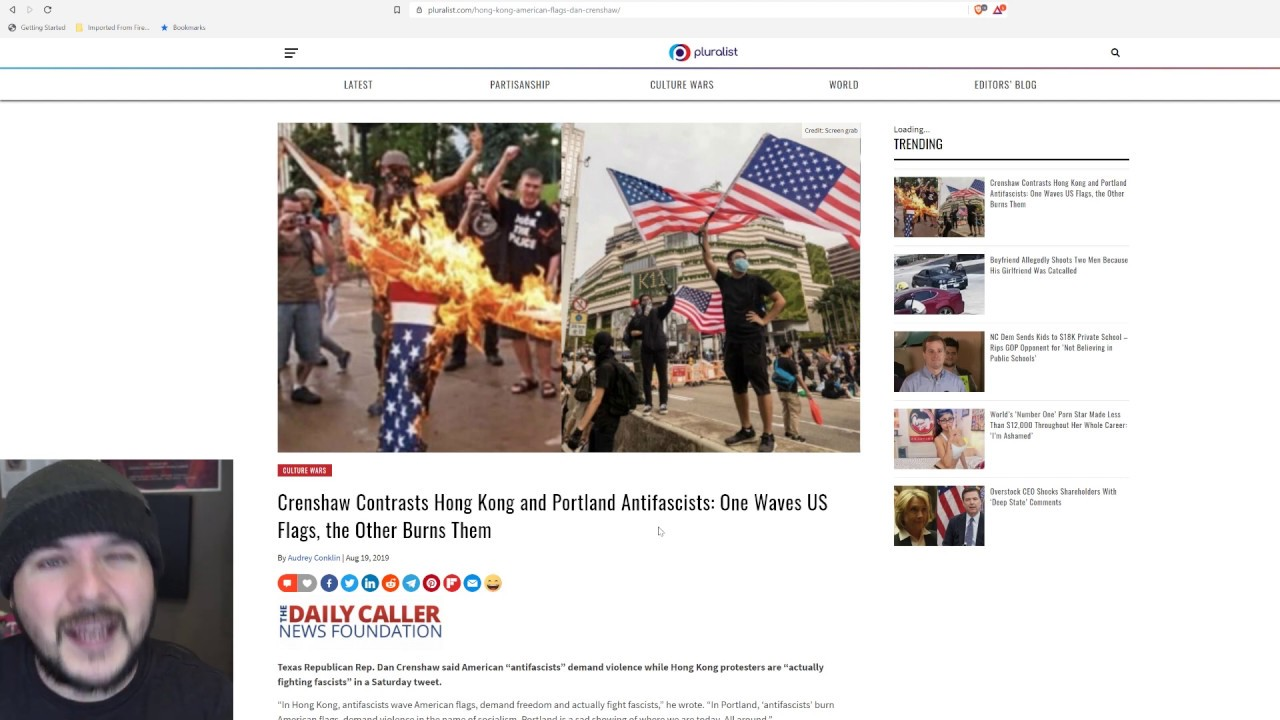 Hong Kong Protesters Wave The US Flag, Antifa Burns It, Communism Is The Same In Every Country