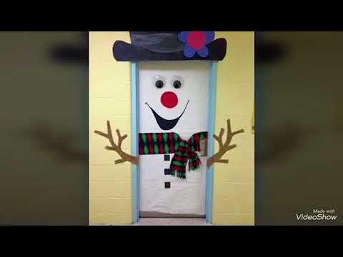 ideas de como decorar tu puerta y frigo en navidad youtube