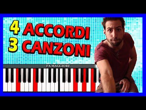 4 Accordi, 3 Canzoni al Pianoforte facili da suonare!