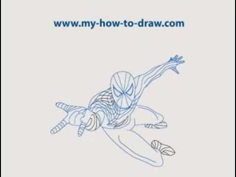 how to draw spiderman easy step by step