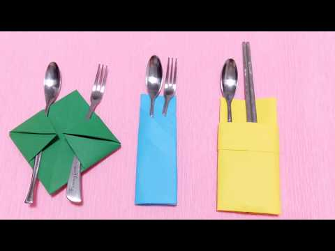 3 Easy Crafts Paper Napkin Folding Tutorials | Simple Arts Origami Napkin Making