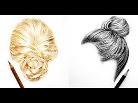 Hairstyle Drawings Drawing 5 Cute Girls Hairstyles Let S